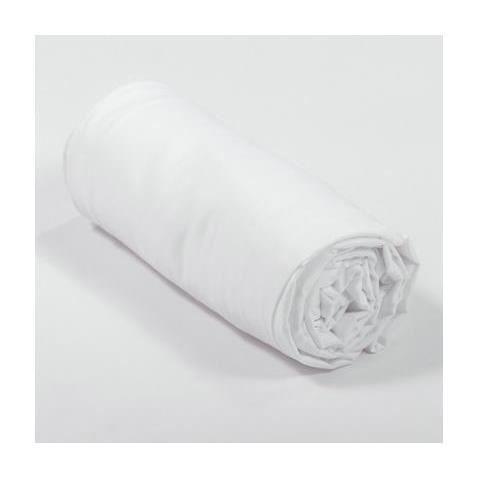 drap housse satin 160x200x30 blanc achat vente drap housse cdiscount. Black Bedroom Furniture Sets. Home Design Ideas