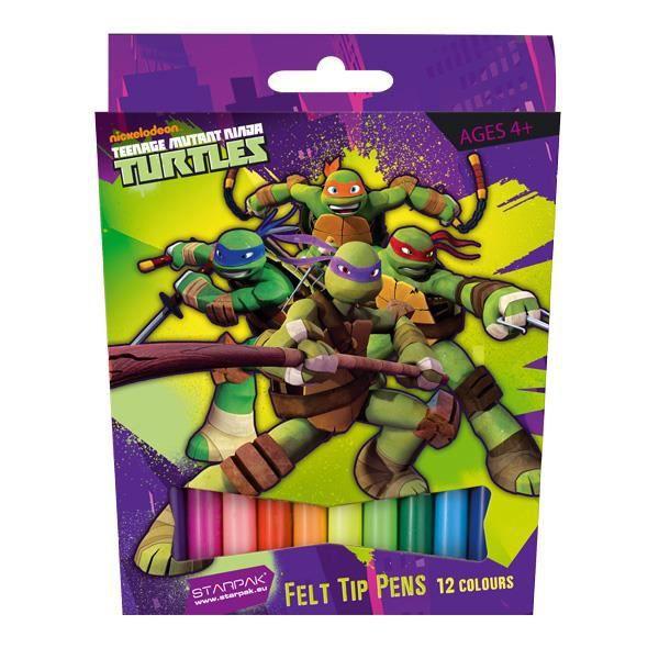 12 feutres de couleurs tortue ninja achat vente - Tortue ninja couleur ...