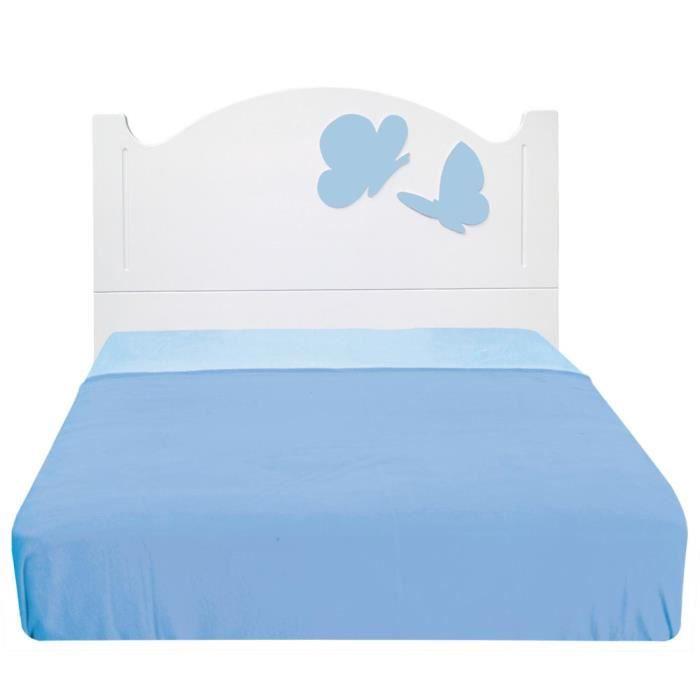t te de lit enfant anastas a papillons bleus 105 achat. Black Bedroom Furniture Sets. Home Design Ideas