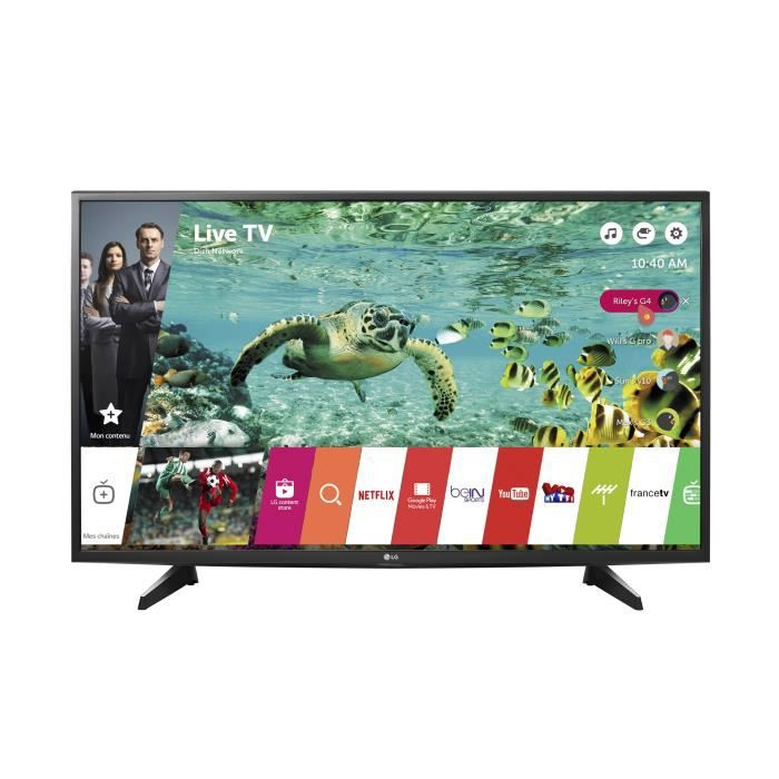 lg 49uh610 tv led 4k uhd 123 cm 49 smart 2 x televiseurspaschers. Black Bedroom Furniture Sets. Home Design Ideas