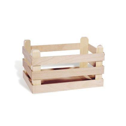 Grande cagette en bois pour jouer la marchande achat vente dinette cu - Peindre cagette bois ...