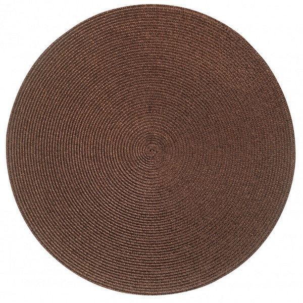 Set de table rond classique marron achat vente set de for Set de table rond blanc