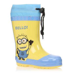 MINIONS Bottes de Pluie Chaussures Enfant Garçon