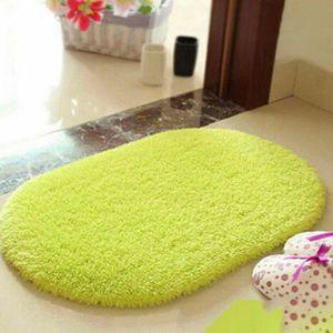 tapis pure color antidrapant tapis de salle de bain en - Tapis Rond Color