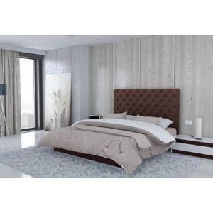 tete de lit chocolat achat vente tete de lit chocolat pas cher cdiscount. Black Bedroom Furniture Sets. Home Design Ideas