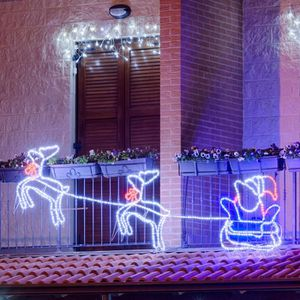 traineau avec renne lumineux achat vente traineau avec. Black Bedroom Furniture Sets. Home Design Ideas