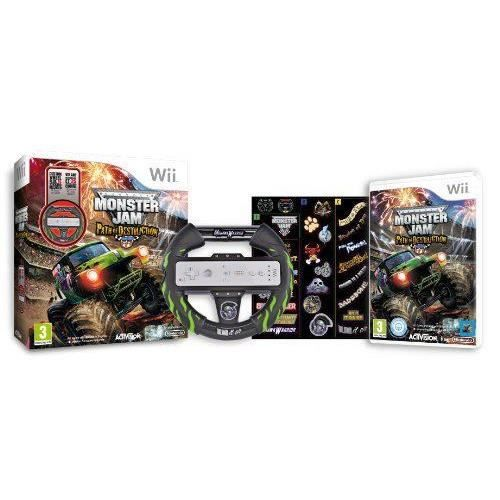 JEUX WII MONSTER JAM: PATH OF DESTRUCTION + VOLANT / Wii