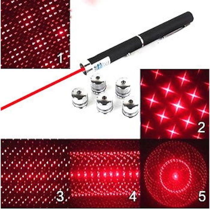 Pointeur Laser Rouge Pointeur Laser Rouge 6 en 1