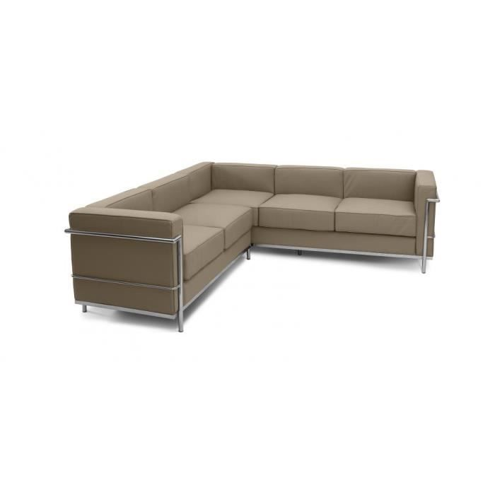 Canap D 39 Angle Design Lc2 Inspir Le Corbusier 5 Achat