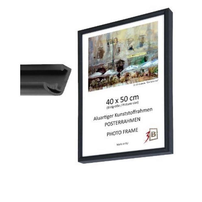cadre pour poster 61x91 5 cm noir cadre photo achat vente cadre photo aluminium. Black Bedroom Furniture Sets. Home Design Ideas
