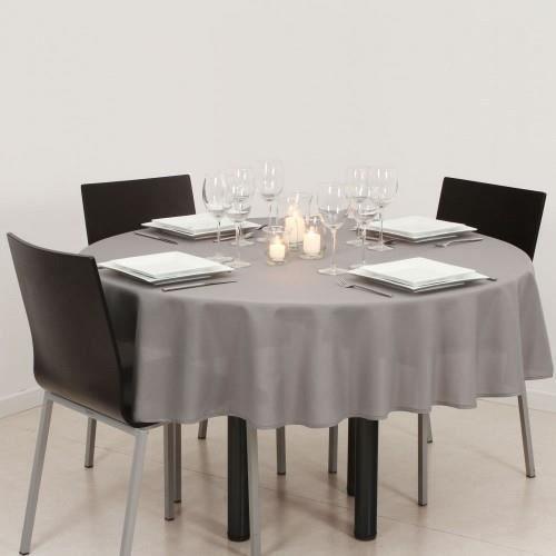 nappe antitache ronde 180cm igris clair achat vente nappe de table cdiscount. Black Bedroom Furniture Sets. Home Design Ideas