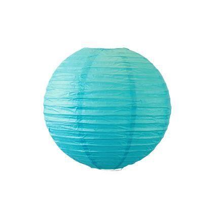 Boule papier 40 cm turquoise achat vente d co de f te for Boule de papier deco