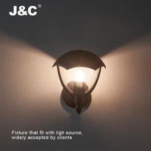 ABAT-JOUR J&C® Abat-jour Étanche Applique Rétro Lanterne Cag