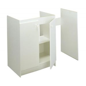 Meuble sous evier gris achat vente meuble sous evier for Meuble evier moderna