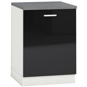 porte cuisine noir laque achat vente porte cuisine noir laque pas cher soldes cdiscount. Black Bedroom Furniture Sets. Home Design Ideas
