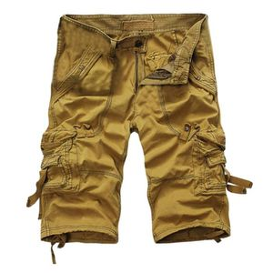 PANTACOURT HEE GRAND Homme Bermuda Casual Cargo Jaune Mout...
