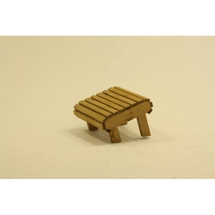 Jardin en bois tabouret repose pieds en bois massif pour chaises longues achat vente salon Salon de jardin bois cdiscount