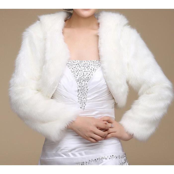 echarpe foulard bolro avec les manches longues en fausse fourrure - Bolero Fourrure Mariage Pas Cher