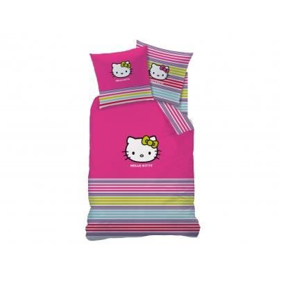 Parure de couette hello kitty sarah summer 140x200 achat vente housse de couette cdiscount - Parure de lit hello kitty 2 personnes ...