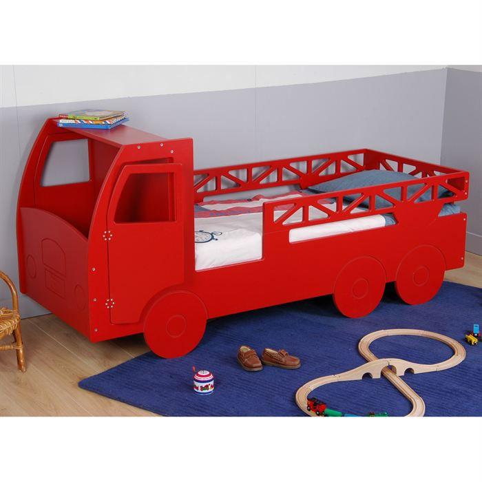 lit pompier rouge table de lit. Black Bedroom Furniture Sets. Home Design Ideas