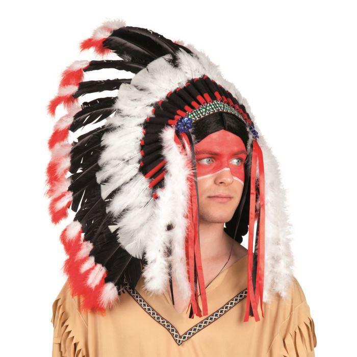 coiffe d 39 indien apache achat vente chapeau perruque cdiscount. Black Bedroom Furniture Sets. Home Design Ideas