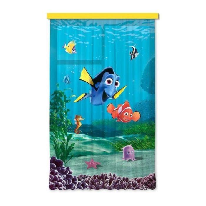 Disney nemo set 1 rideau pour chambre d 39 enfant porte for Decoration porte francaise