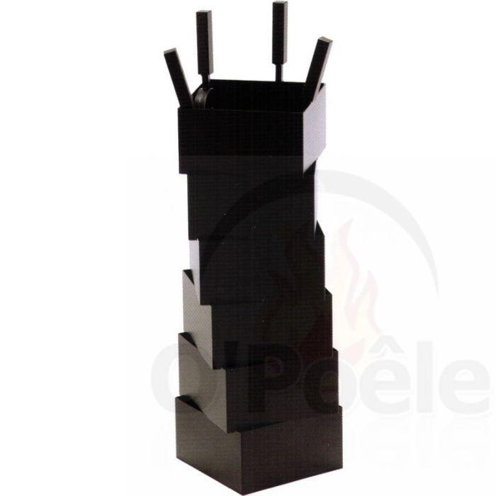 serviteur acier 4 accessoires torsion noir givr achat. Black Bedroom Furniture Sets. Home Design Ideas