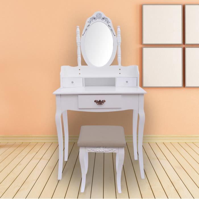 coiffeuse pour fille en bois amazing coiffeuse coiffeuse avec et miroir en bois with coiffeuse. Black Bedroom Furniture Sets. Home Design Ideas