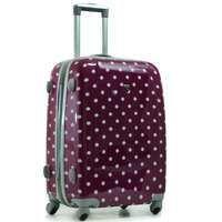 valise a pois extensible 60cm violet achat vente valise bagage valise a pois extensible. Black Bedroom Furniture Sets. Home Design Ideas