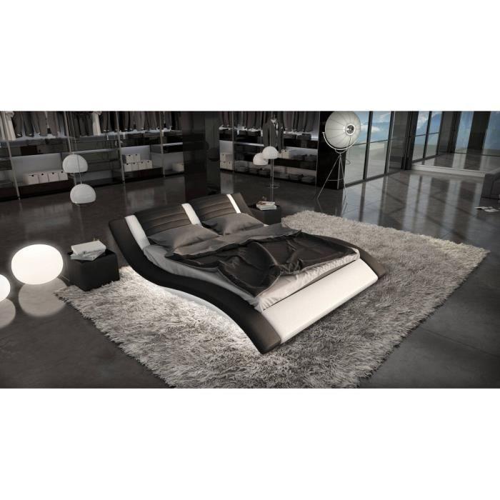 lit design lumineux nassau 140cmx190cm avec mat achat vente ensemble literie cdiscount. Black Bedroom Furniture Sets. Home Design Ideas