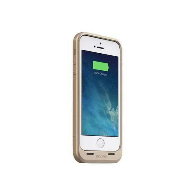 coque iphone 5 5s batterie or mophie achat coque. Black Bedroom Furniture Sets. Home Design Ideas