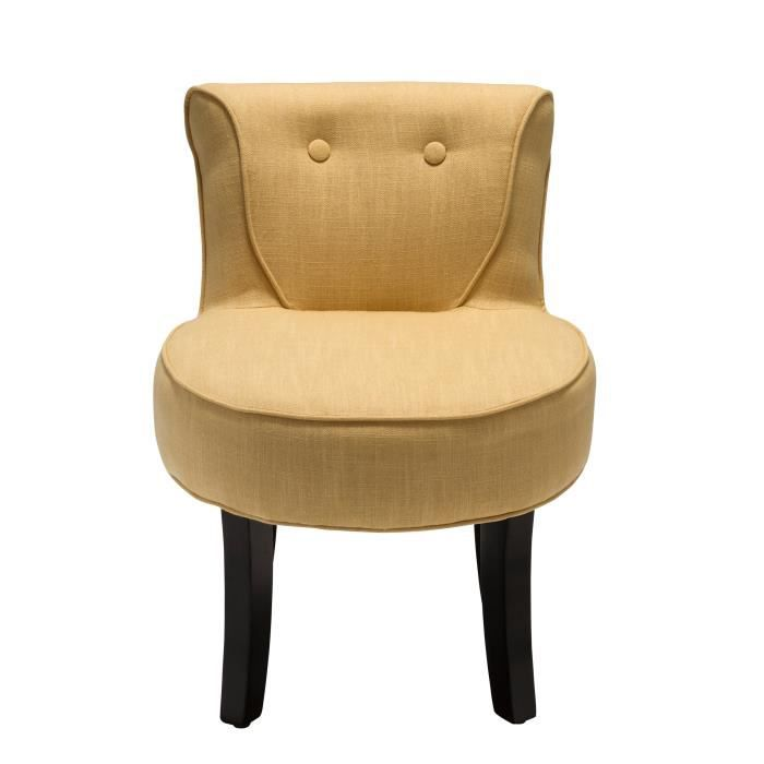 Petit fauteuil crapaud lin moutarde achat vente fauteuil beige cadeaux - Fauteuil crapaud lin ...