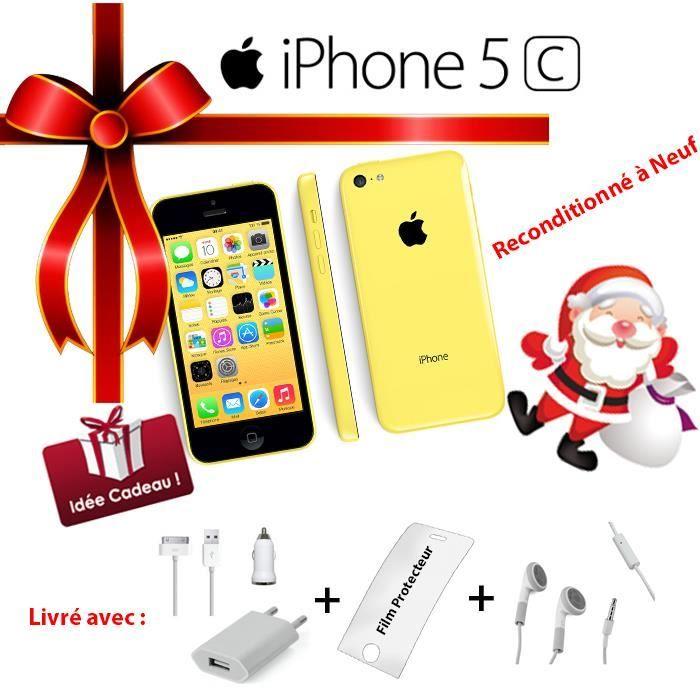 apple iphone 5c jaune 16go neuf achat smartphone pas cher avis et meilleur prix cdiscount. Black Bedroom Furniture Sets. Home Design Ideas