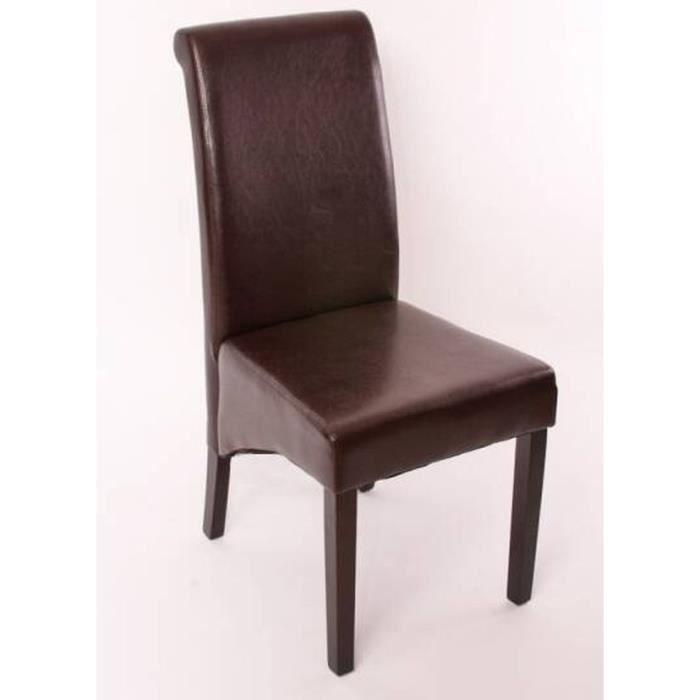 Chaise de salle manger lot de 2 galice brun achat for Chaise de salle a manger brun