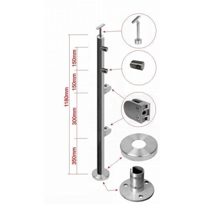 poteau de d part achat vente rampe main courante poteau de d part cdiscount. Black Bedroom Furniture Sets. Home Design Ideas