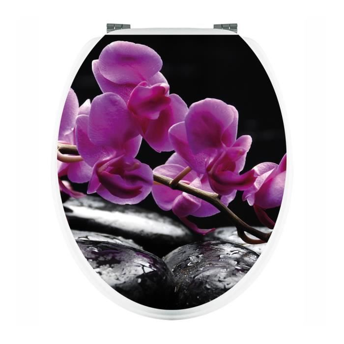 stickers wc orchid e ref wc123 achat vente stickers cdiscount. Black Bedroom Furniture Sets. Home Design Ideas