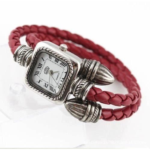 montre bracelet serpent rouge femme simili cuir rouge achat vente montre cdiscount. Black Bedroom Furniture Sets. Home Design Ideas
