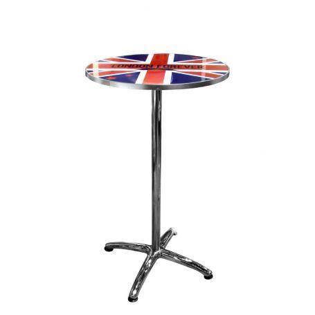 Table de bar union jack bleu et rouge achat vente for Table de bar rouge