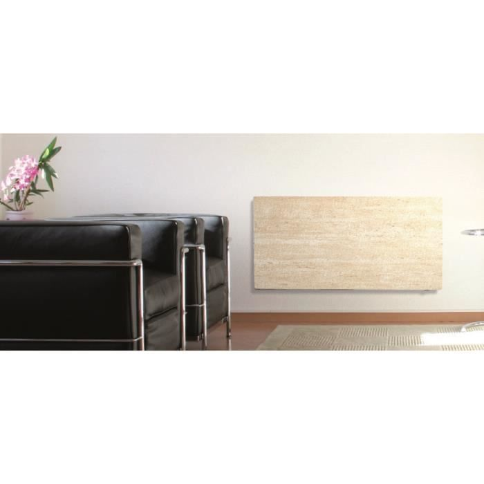 radiateur lectrique valderoma 2000w travertin achat vente radiateur panneau radiateur. Black Bedroom Furniture Sets. Home Design Ideas
