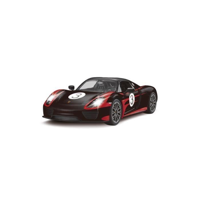 voiture rc porsche 918 spyder performance noire et rouge 1 14 achat vente voiture. Black Bedroom Furniture Sets. Home Design Ideas