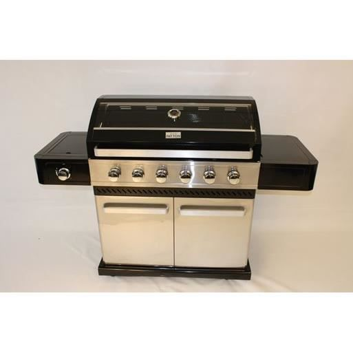 barbecue gaz excellence 6 1 coloris tout inox achat. Black Bedroom Furniture Sets. Home Design Ideas