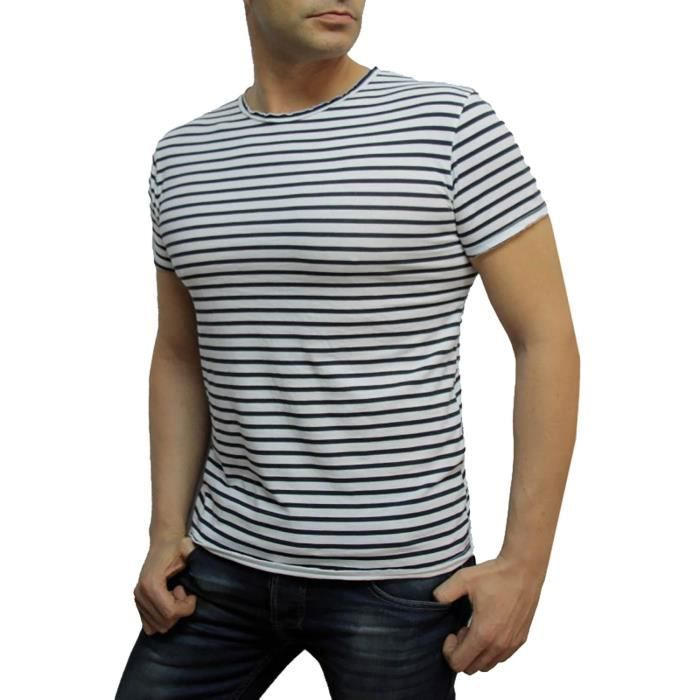 tee shirt t marin homme ivan blanc achat vente t shirt cdiscount. Black Bedroom Furniture Sets. Home Design Ideas