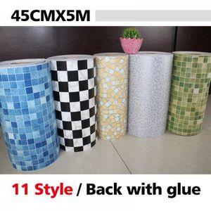 stickers modle 9 5 metros vinyle pvc mosaque tuiles au - Stickers Tuile Vinyle Salle De Bain