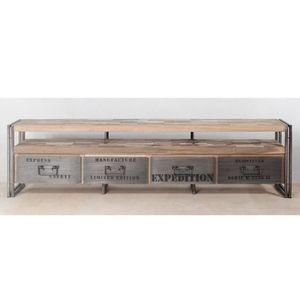 Meuble tv industriel achat vente meuble tv industriel for Meuble tv en solde