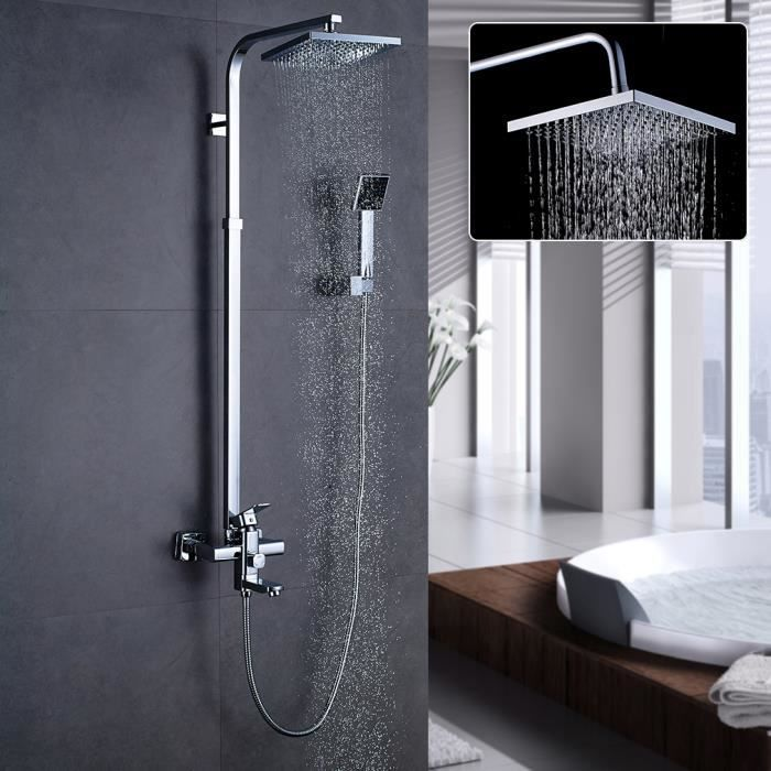 aruhe colonne de douche r glable de salle de bain robinet douchette laiton chrom garantie. Black Bedroom Furniture Sets. Home Design Ideas