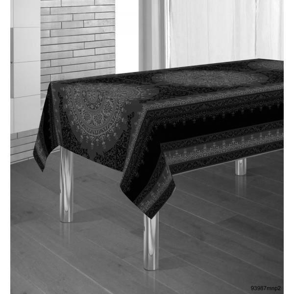 nappe moderne nappe brod e en satin poure une d coration moderne de nappe rectangulaire coton. Black Bedroom Furniture Sets. Home Design Ideas