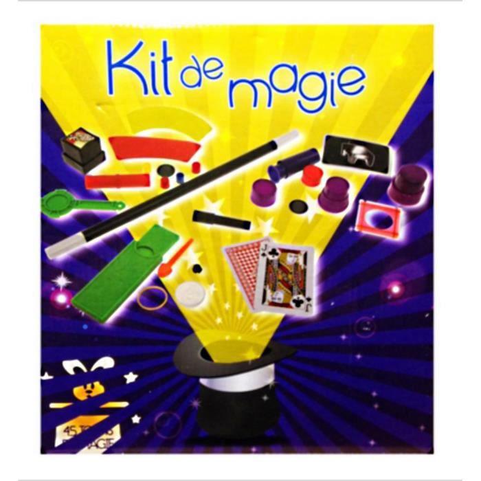 kit de magie 45 tours de magie apprenti magicien jouet achat vente jeu magie cdiscount. Black Bedroom Furniture Sets. Home Design Ideas