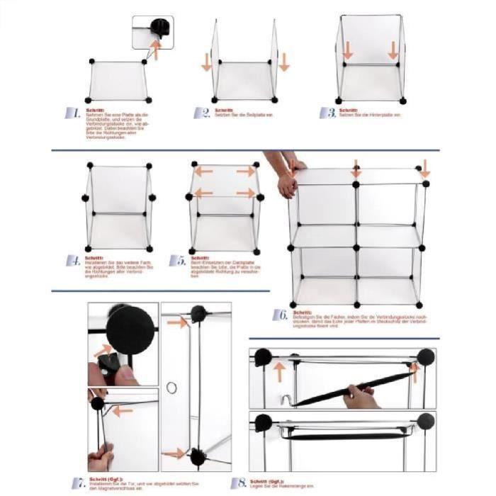 Armoire meuble de rangement placard avec le coffret de chaussures achat v - Cdiscount armoire de rangement ...