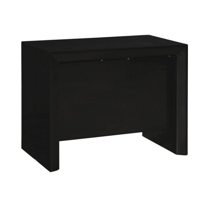 Console extensible misty noir mat allonges int achat vente console cons - Console extensible noire ...