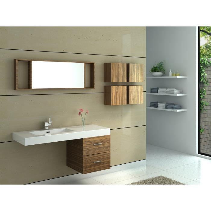 Meuble de salle de bain avec simple vasque achat vente - Meubles salle de bain cdiscount ...